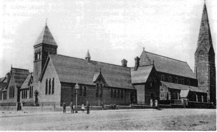 Old photo St James School and Church 1900's